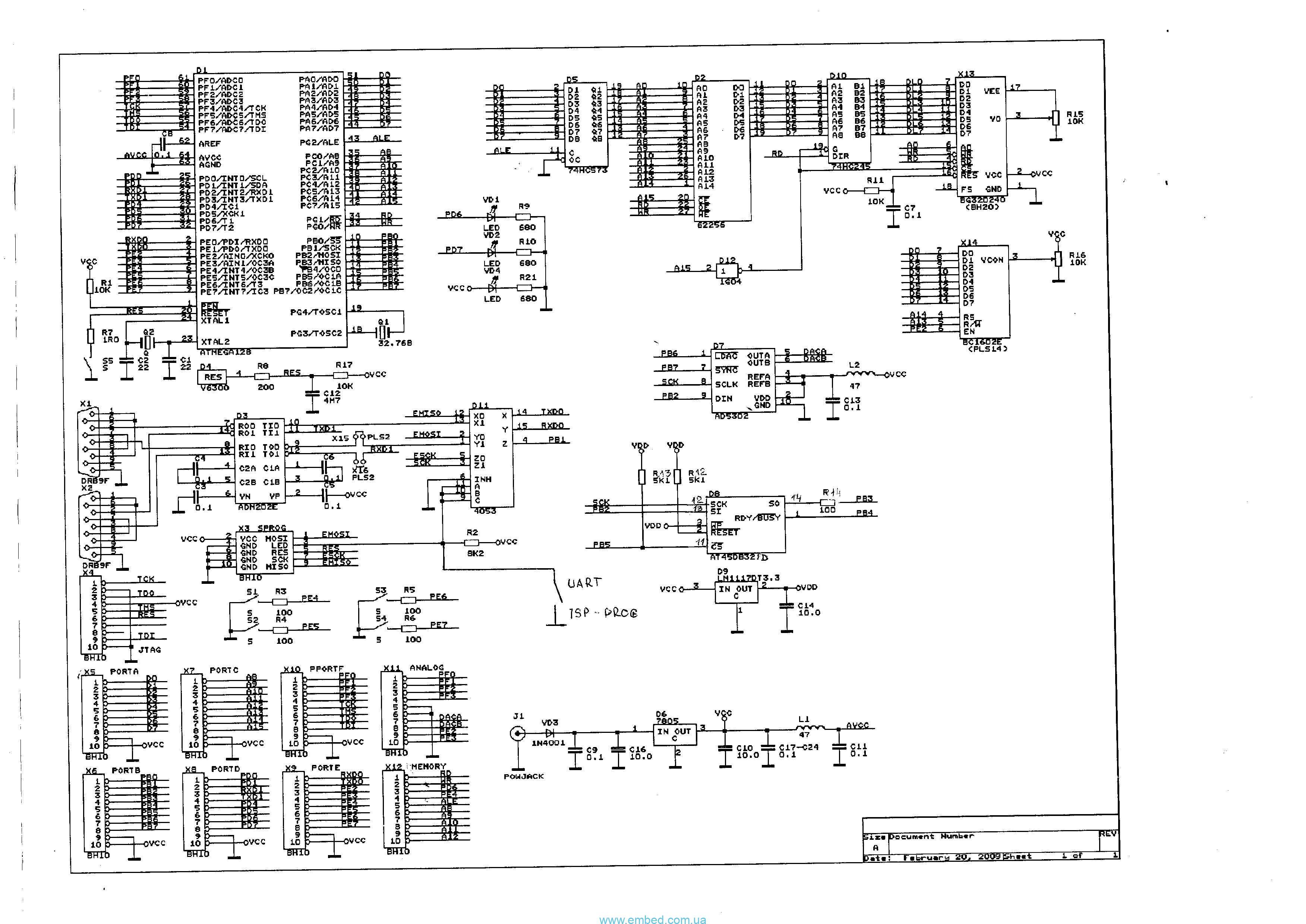 Схемы на atmega128