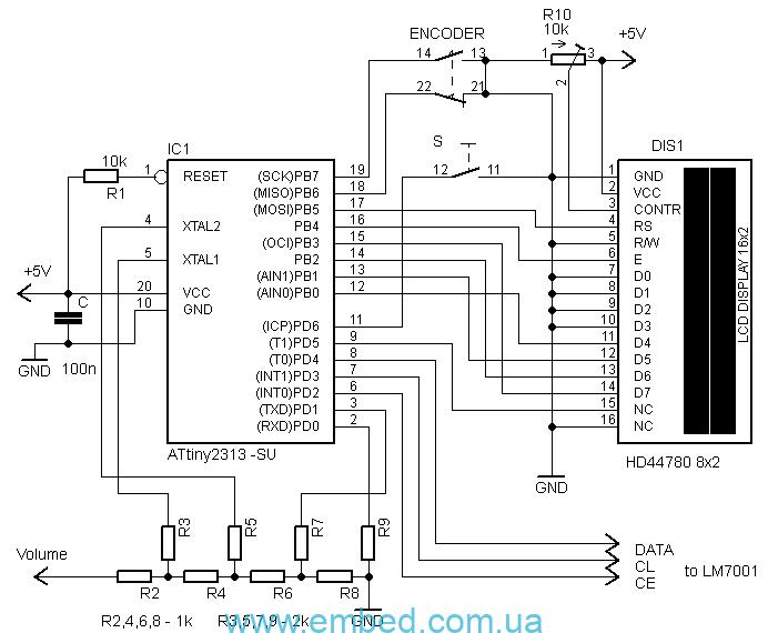 Схема мезонинной платы