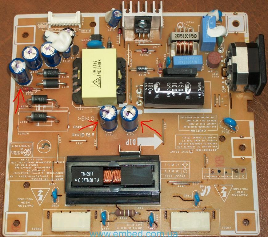 Ремонт монитора Samsung SyncMaster 940n.